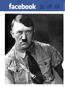 Mock up of Hitler on facebook
